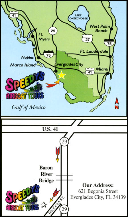 Speedys Airboat Tours Everglades City Florida Map And Directions - Us 41 florida map